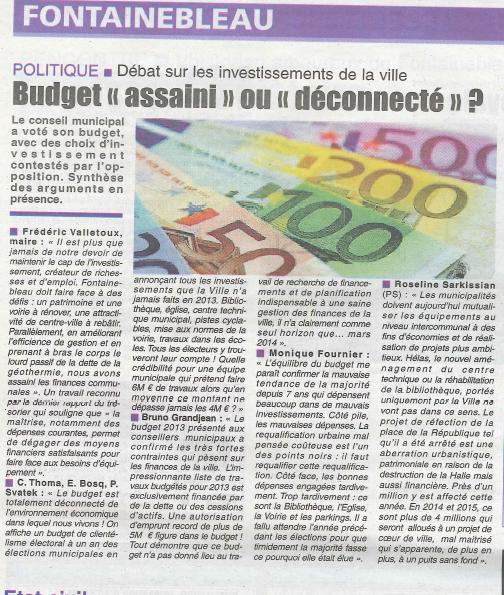 La République de Seine et Marne - budget assaini ou deconnecte - 18022013