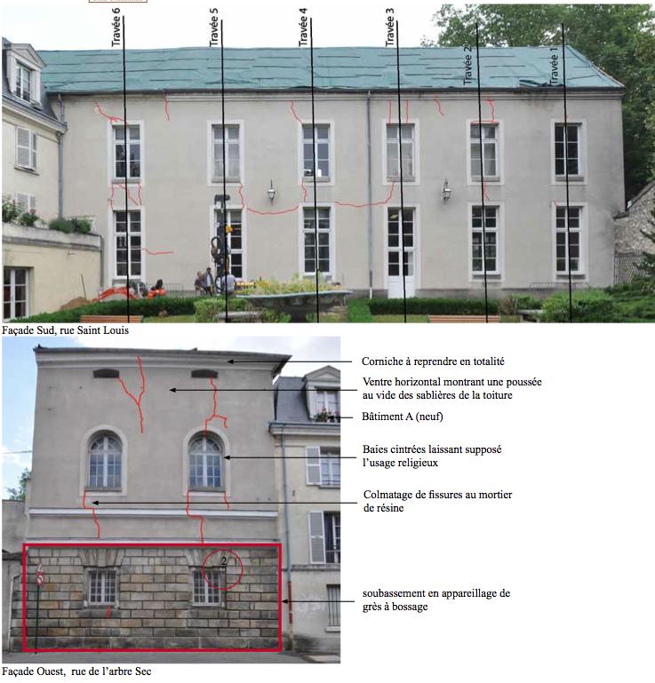 Fissures bâtiments bibliothèque