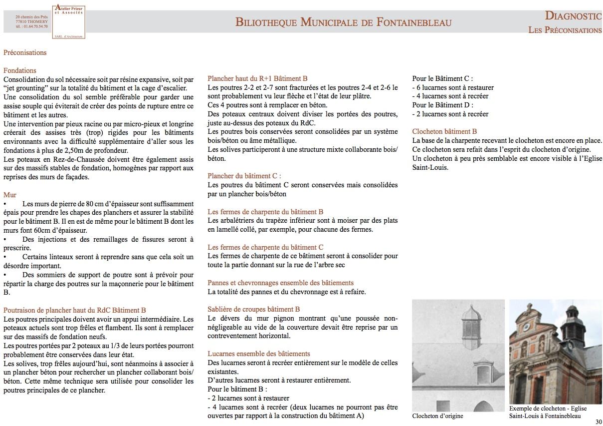 Préconisations - bibliothèque