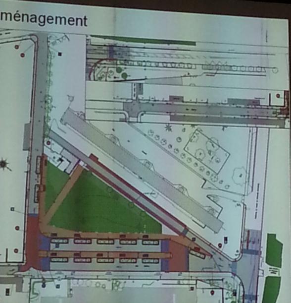 Plan de la gare routière