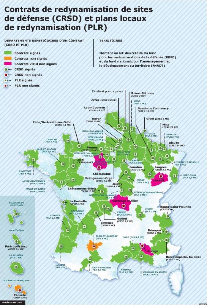 carte sites militaires
