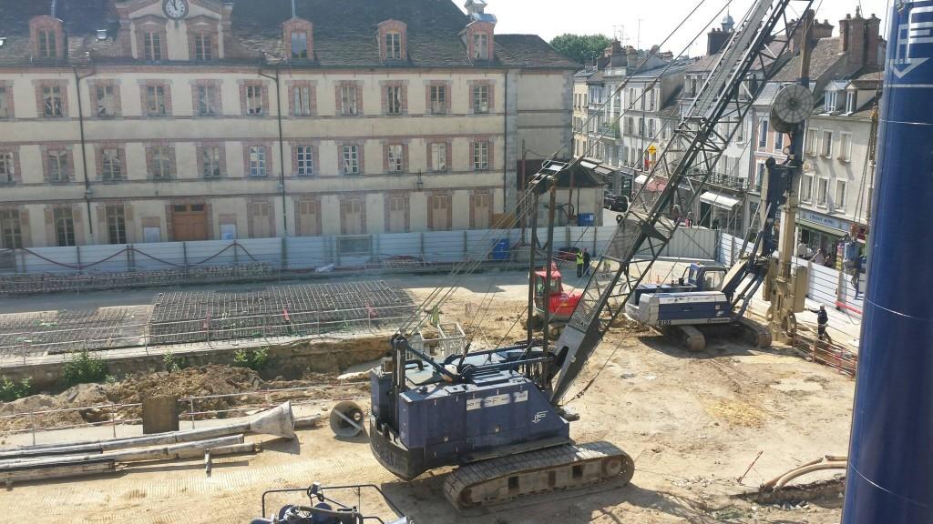 Les hausses de tarif paient le chantier de la Place de la République (photo du 28/05/2015)